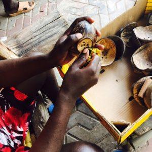 Coconut Soap dish production 1